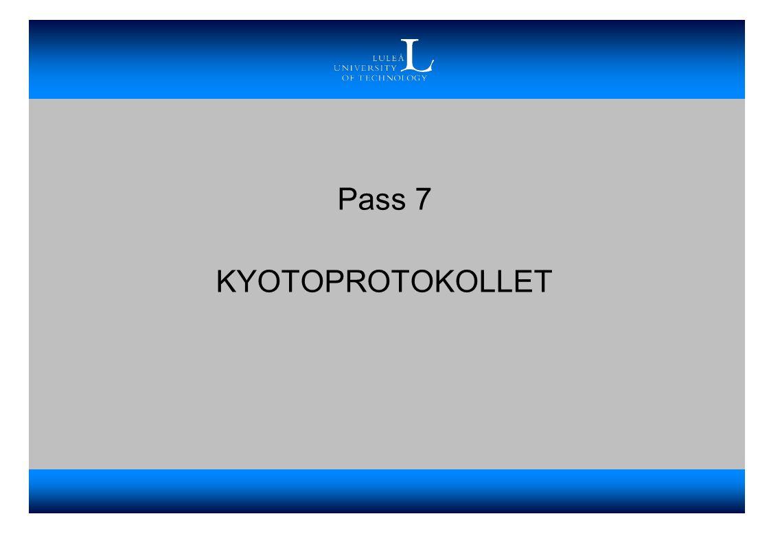 Pass 7 KYOTOPROTOKOLLET