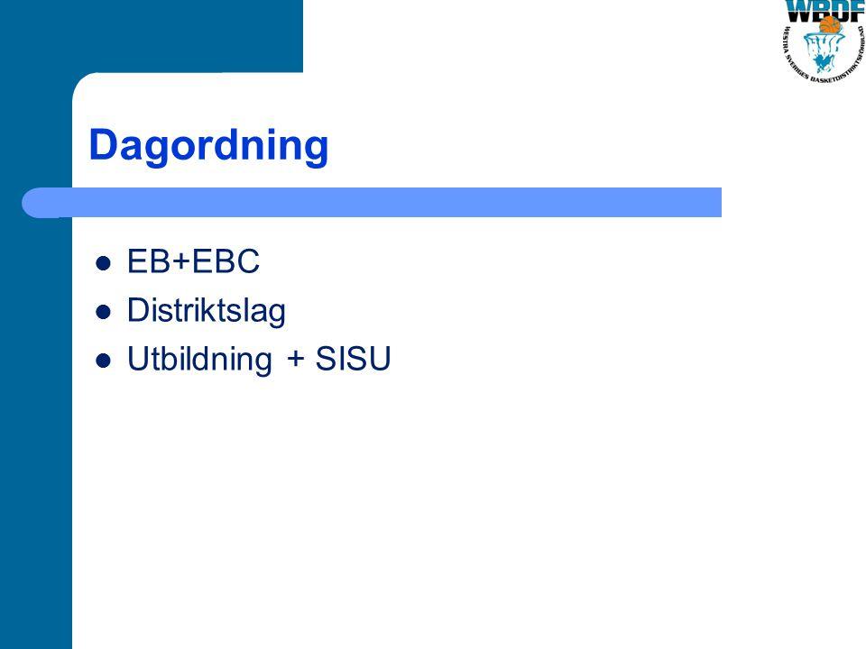 Dagordning EB+EBC Distriktslag Utbildning + SISU