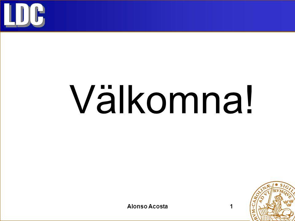 Välkomna! Alonso Acosta1