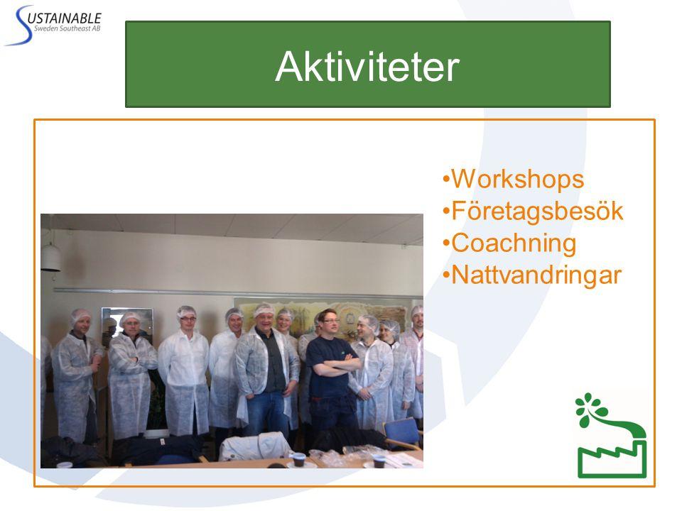 Aktiviteter Workshops Företagsbesök Coachning Nattvandringar