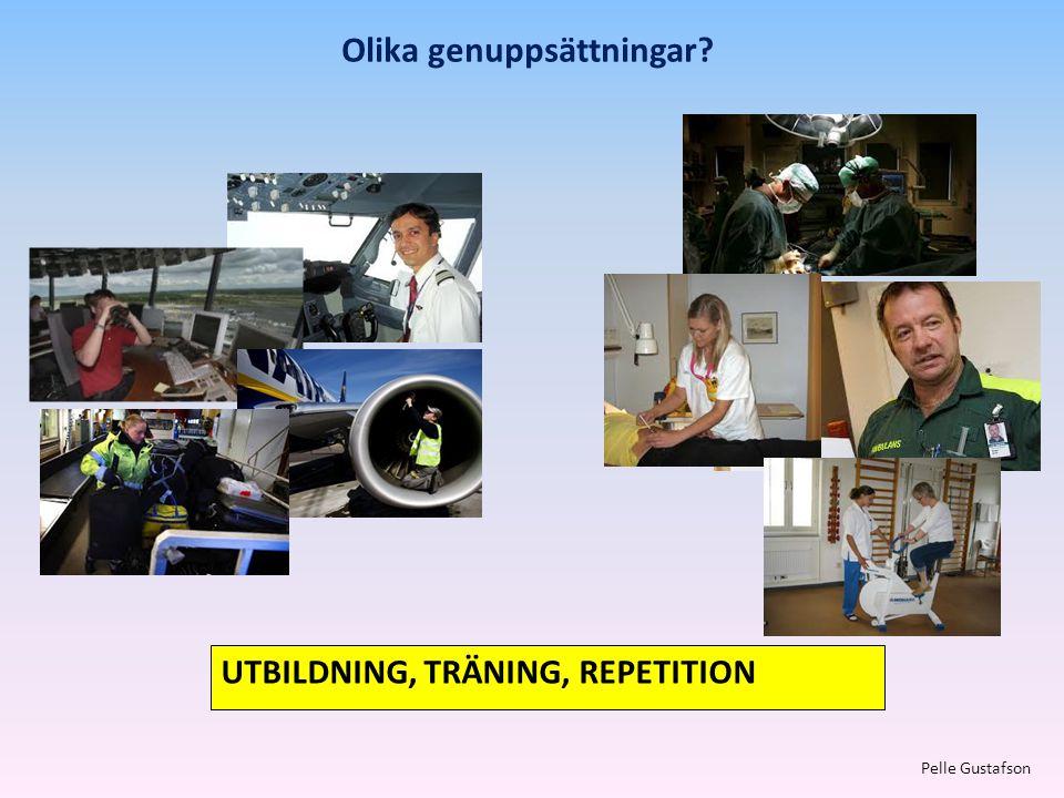 Olika genuppsättningar? Pelle Gustafson UTBILDNING, TRÄNING, REPETITION