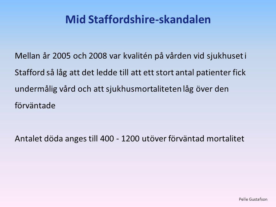 Mellan år 2005 och 2008 var kvalitén på vården vid sjukhuset i Stafford så låg att det ledde till att ett stort antal patienter fick undermålig vård o