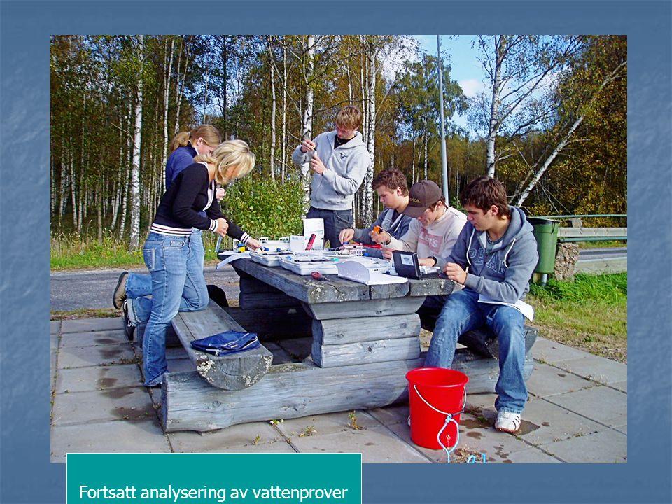 Fortsatt analysering av vattenprover
