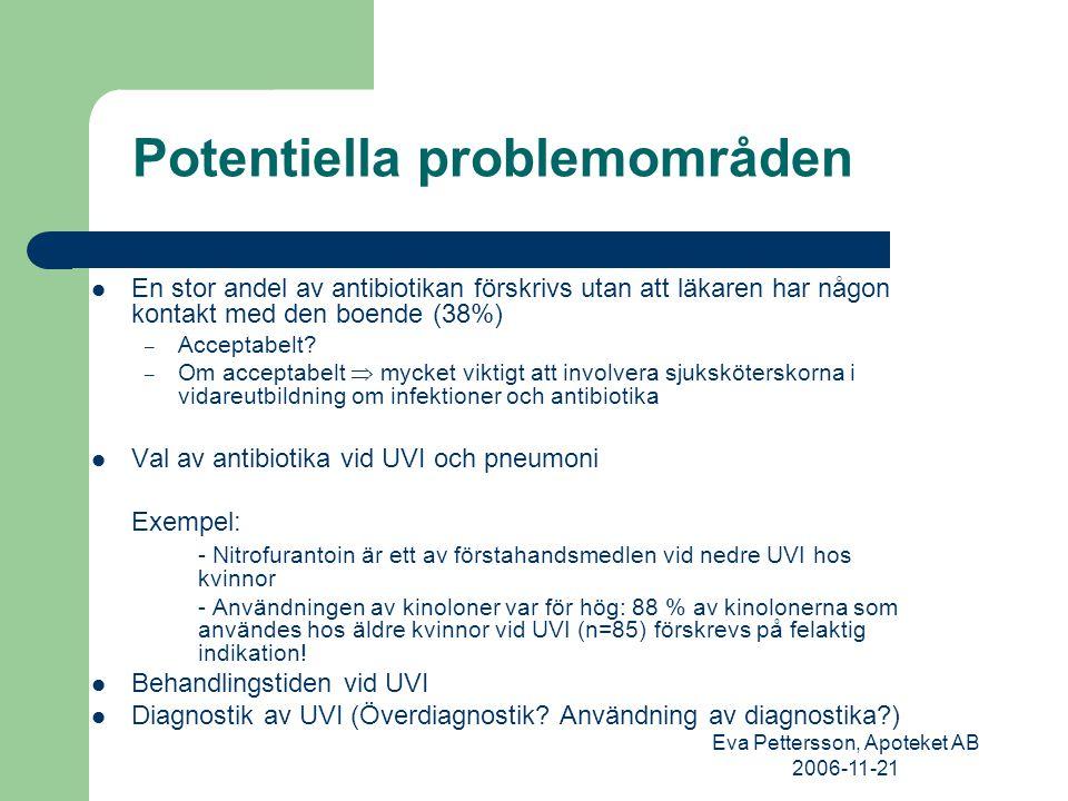 Eva Pettersson, Apoteket AB 2006-11-21 Tack för er uppmärksamhet! Sunderby sjukhus