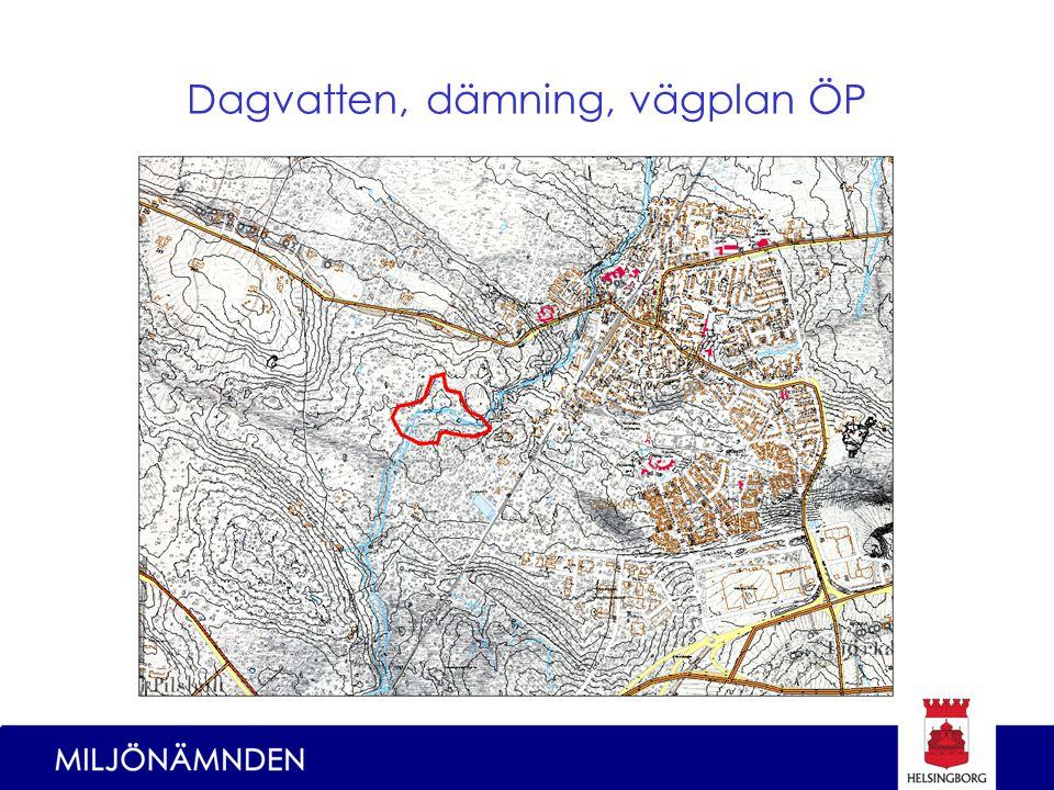 Dagvatten, dämning, vägplan ÖP