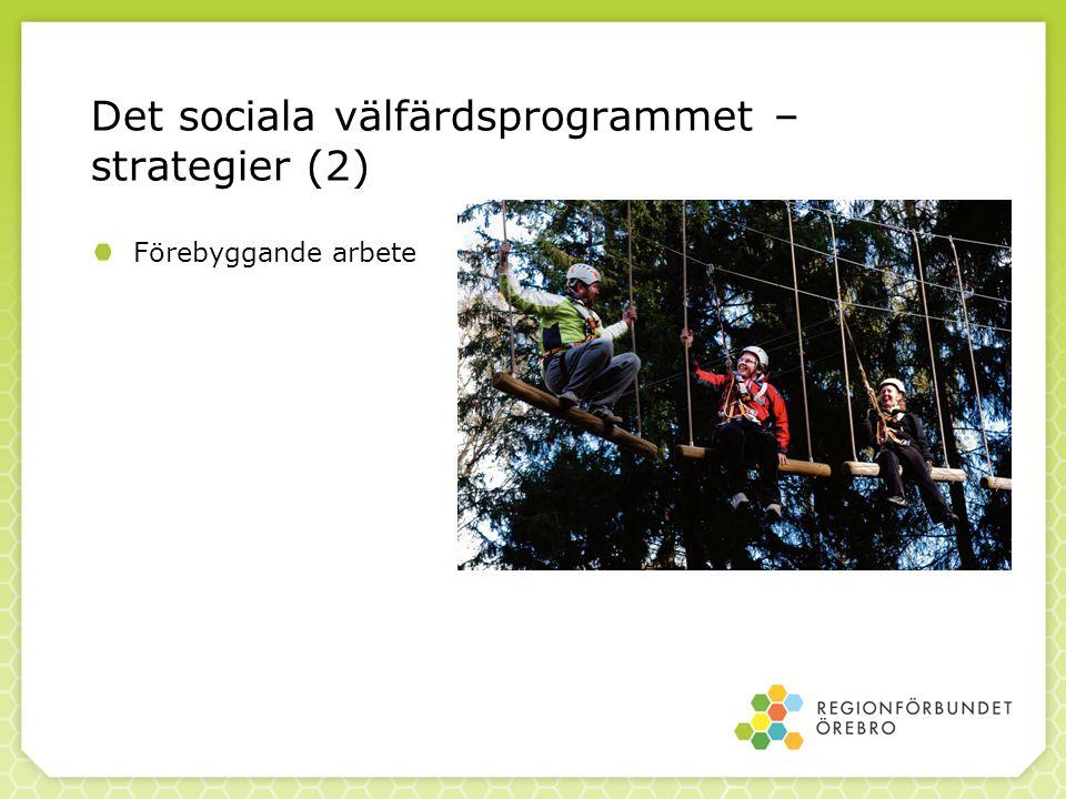 Det sociala välfärdsprogrammet – strategier (2) Förebyggande arbete
