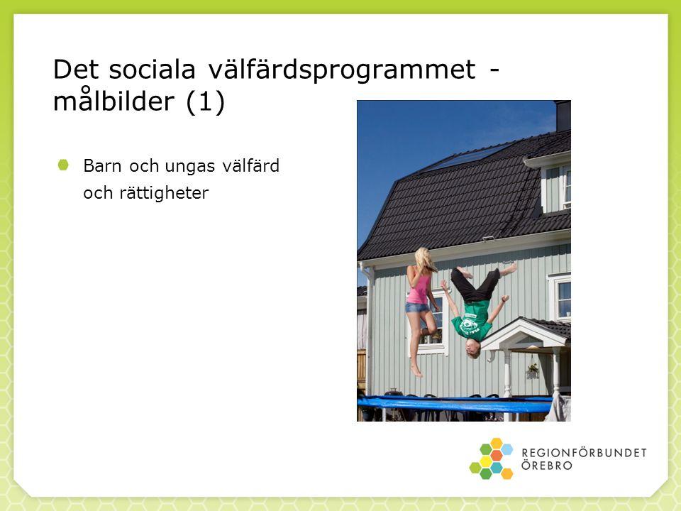 Det sociala välfärdsprogrammet - målbilder (1) Barn och ungas välfärd och rättigheter