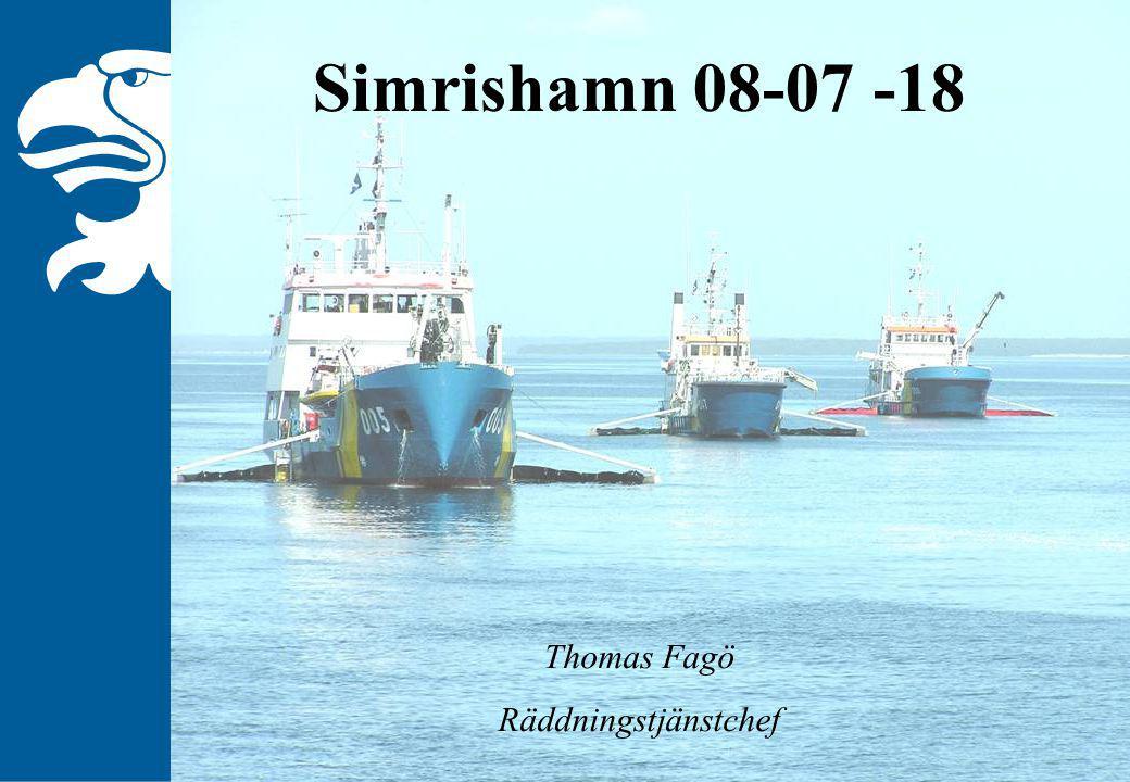Simrishamn 08-07 -18 Thomas Fagö Räddningstjänstchef