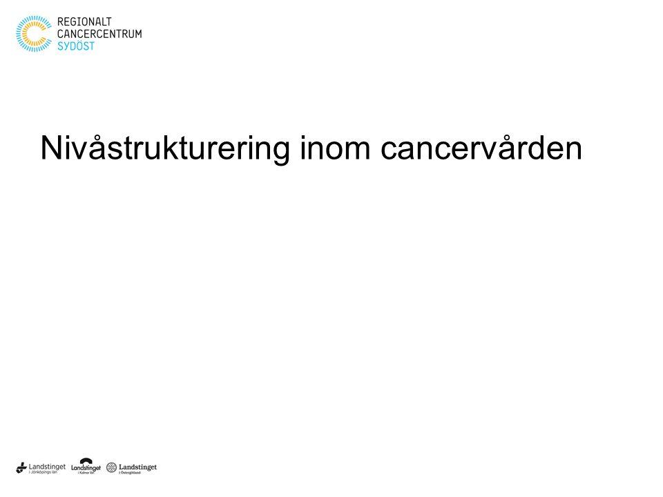 Nivåstrukturering inom cancervården