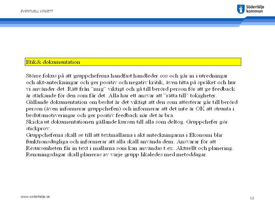 www.sodertalje.se 12 EVENTUELL VINJETT