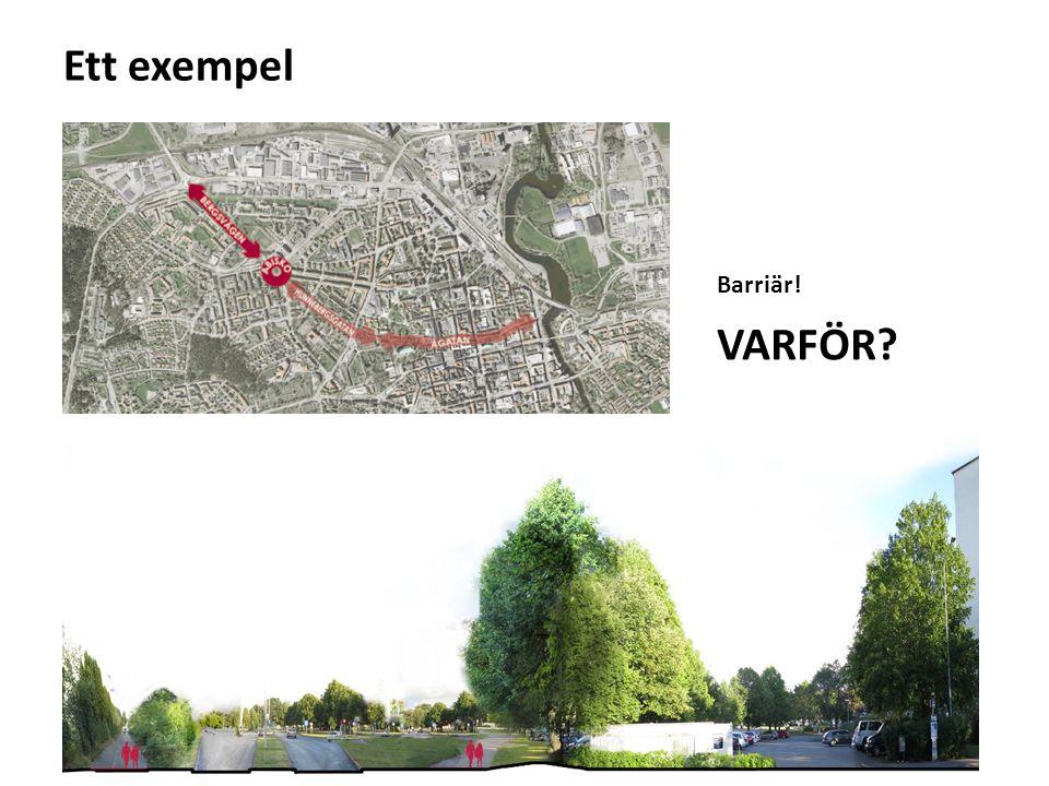 Ett exempel Barriär! VARFÖR?