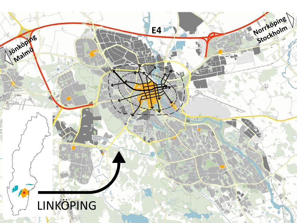 Rondell med planskilda passager och vad det gör för orienterbarheten Rondellen är en övergångszon, mellan en mänsklig skala i gaturummet och en vidsträckt trafikled – mellan viss tadsmässighet och glest bostadsormåde.