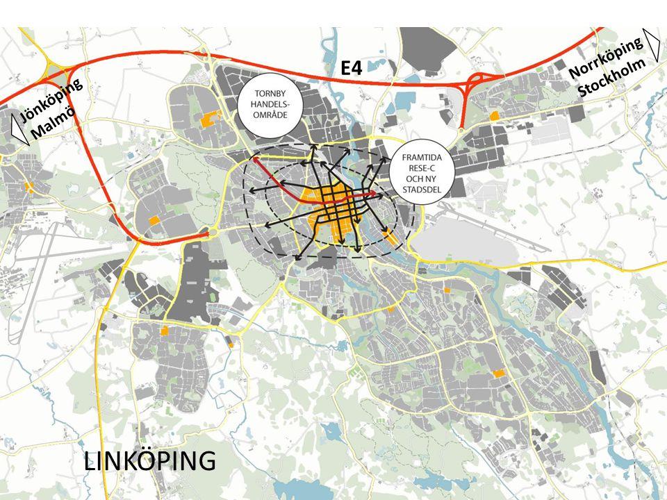 Jönköping Malmö E4 Norrköping Stockholm LINKÖPING