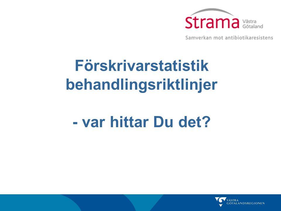 SMI Välj Antibiotikaförbrukning>Sverige >t ex öppen vård