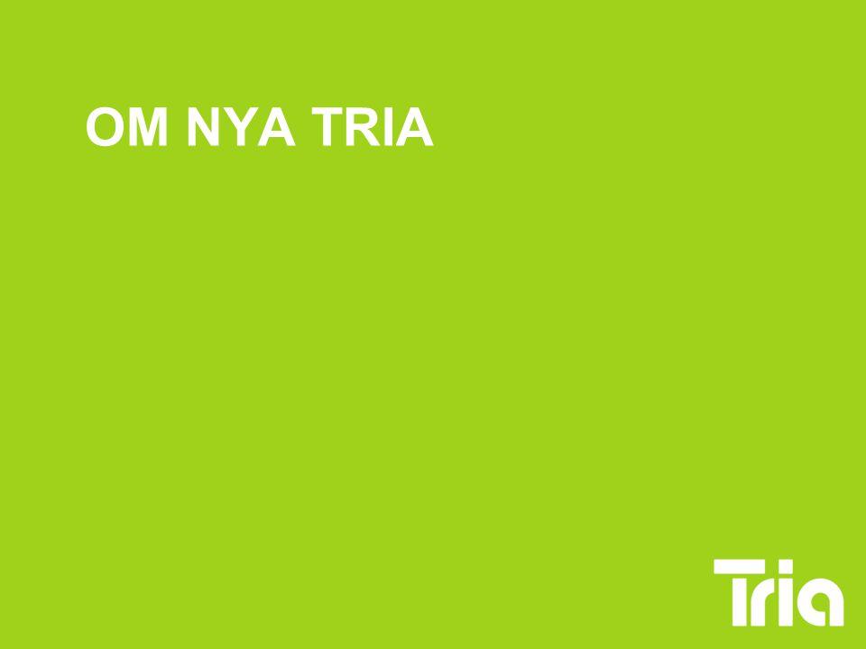 NYA TRIA HTF:s och Sifs förbundsstyrelser fattade beslutet om Tria i oktober -07 Från 1 jan har Unionens studerandeverksamhet och Tria haft skilda organisationer, men båda har rekryterat till Tria Nytt samarbetsavtal gäller från 15 aug 2008 Förbunden betalar 2 miljoner/år vardera till Tria i verksamhetspengar Bemannar Triakansliet gemensamt samt egna studerandeombudsmän och studentinformatörer.