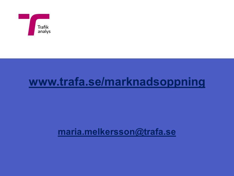 www.trafa.se/marknadsoppning maria.melkersson@trafa.se