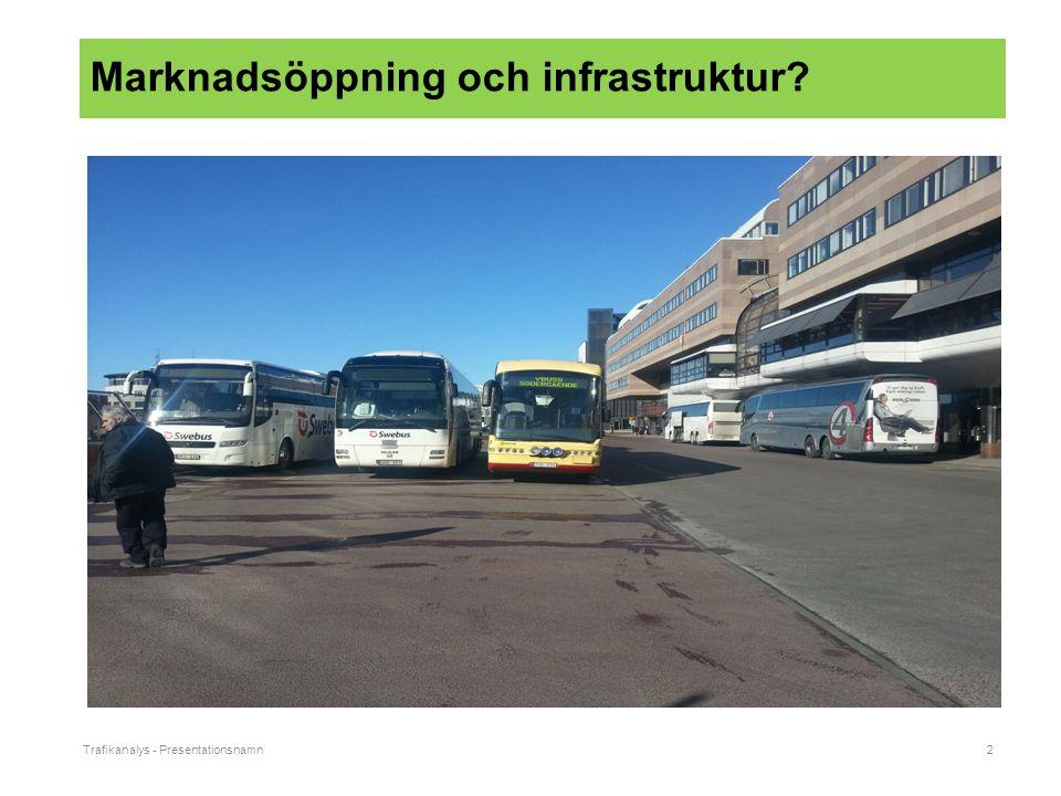 Trafikanalys - Presentationsnamn2 Marknadsöppning och infrastruktur