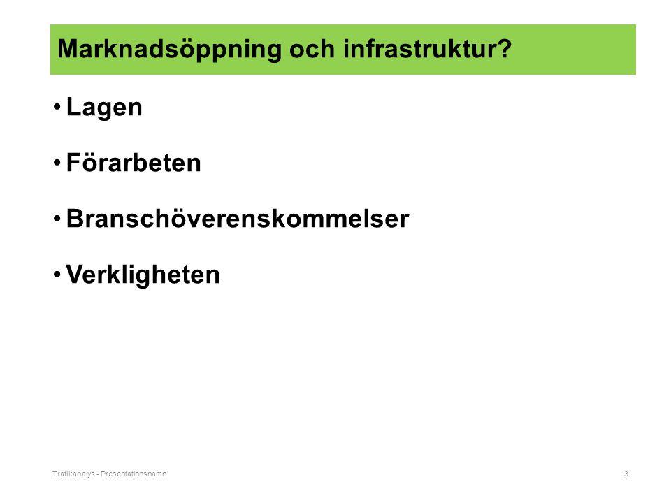 Trafikanalys - Presentationsnamn3 Marknadsöppning och infrastruktur.
