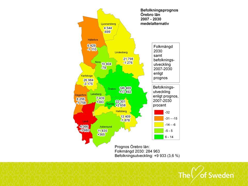 Aktiv regionförstoring Etappmål År 2015 sker 25 procent av arbetspendlingsresorna med kollektivtrafiken.