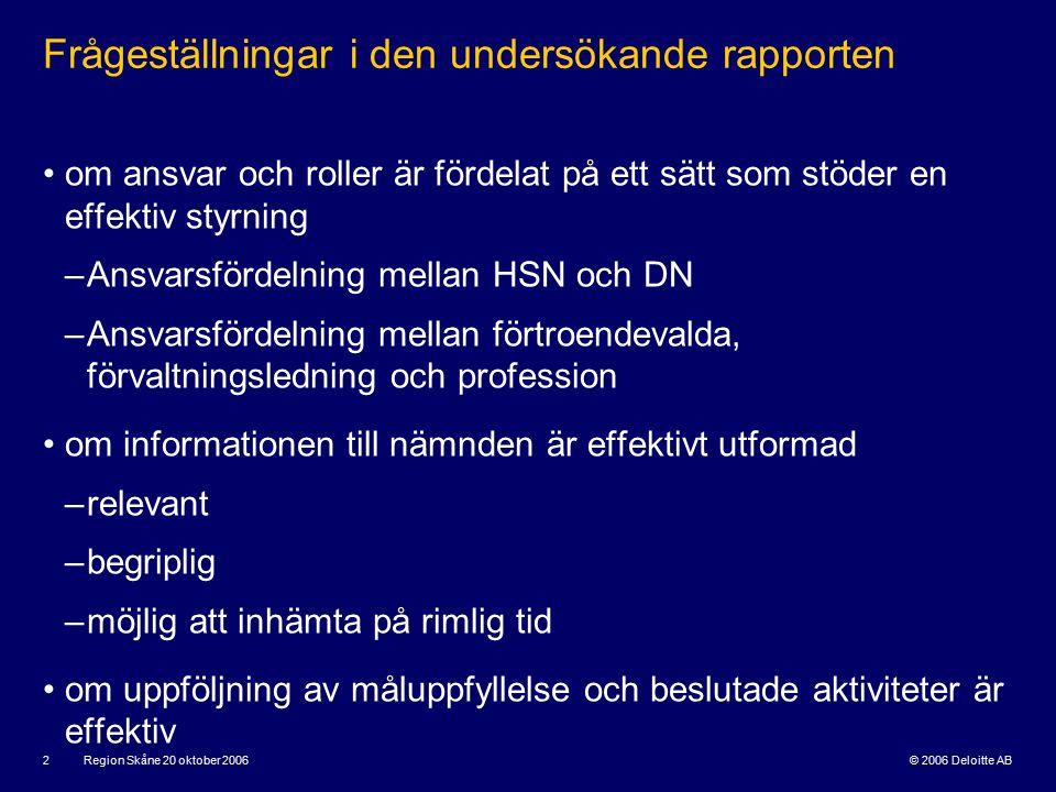 © 2006 Deloitte AB Region Skåne 20 oktober 2006 3 Förvaltningsrevision, vad är det.