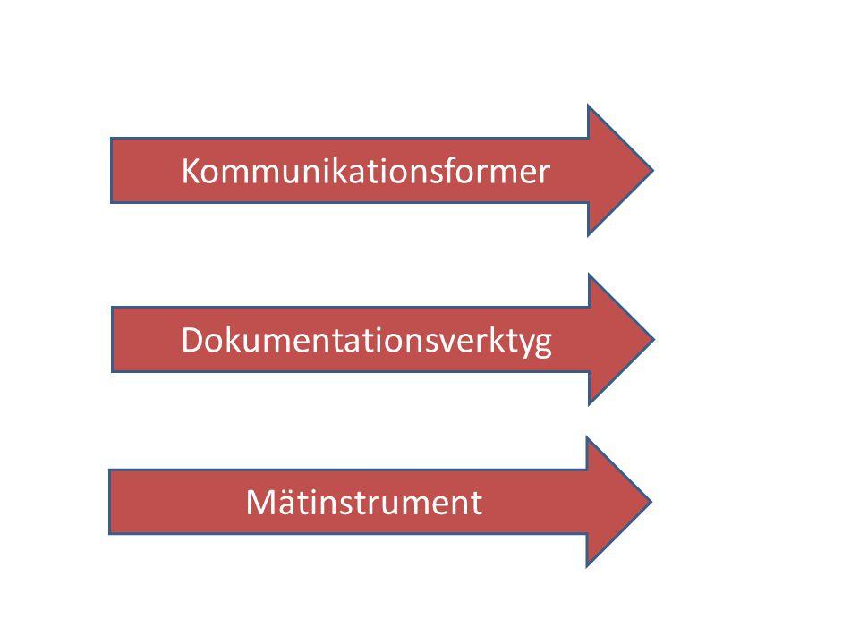 Dokumentationsverktyg Kommunikationsformer Mätinstrument