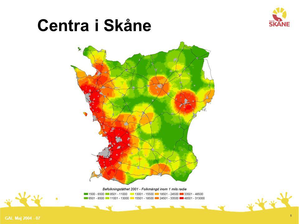 6 Region Skåne grundades1999-01-01 som försöksregion.