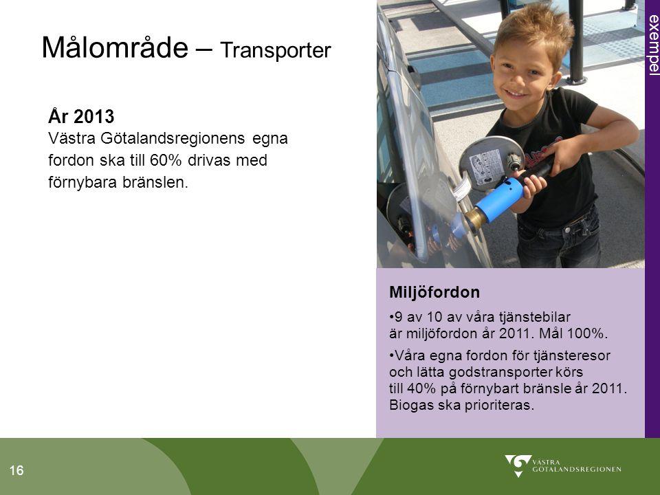 16 Miljöfordon 9 av 10 av våra tjänstebilar är miljöfordon år 2011.