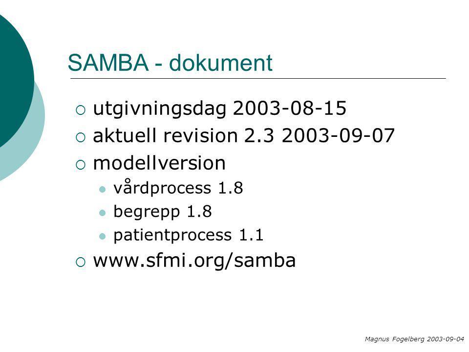 Syfte  Identifiera och beskriva en gemensam huvudprocess inom hälso-och sjukvården  Definiera huvudprocessens begrepp Maria Areblad 2003-02-04