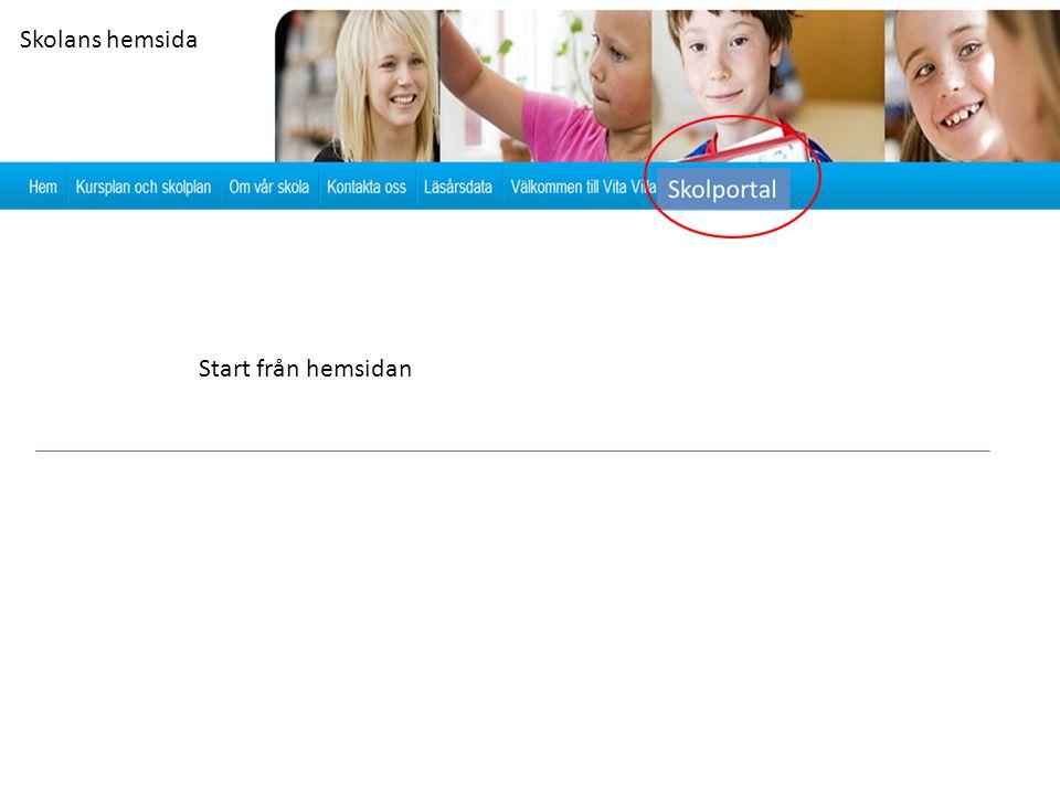 Skolans hemsida Start från hemsidan