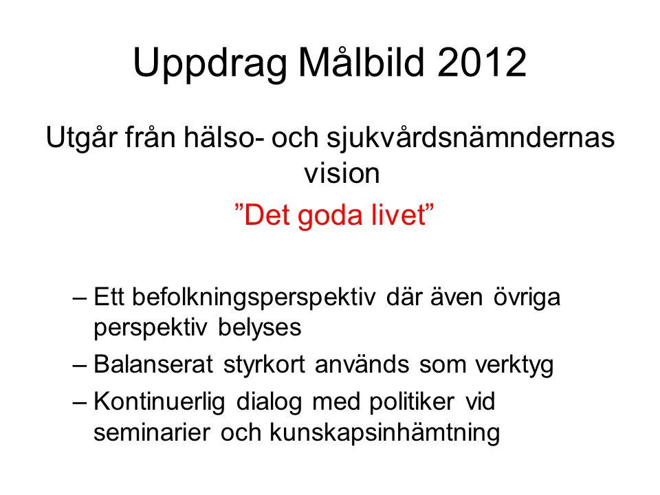 Arbetsgång – Målbild 2012 Nuläge Framtida spelplan Risker, hot och möjligheter SWOT Seminarier Uppdrag