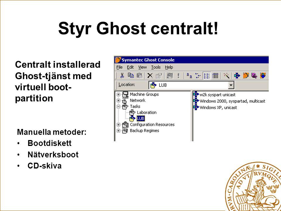 Styr Ghost centralt.