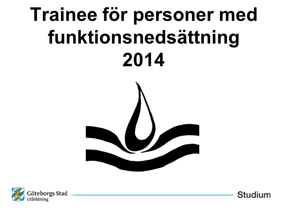 Trainee för personer med funktionsnedsättning 2014