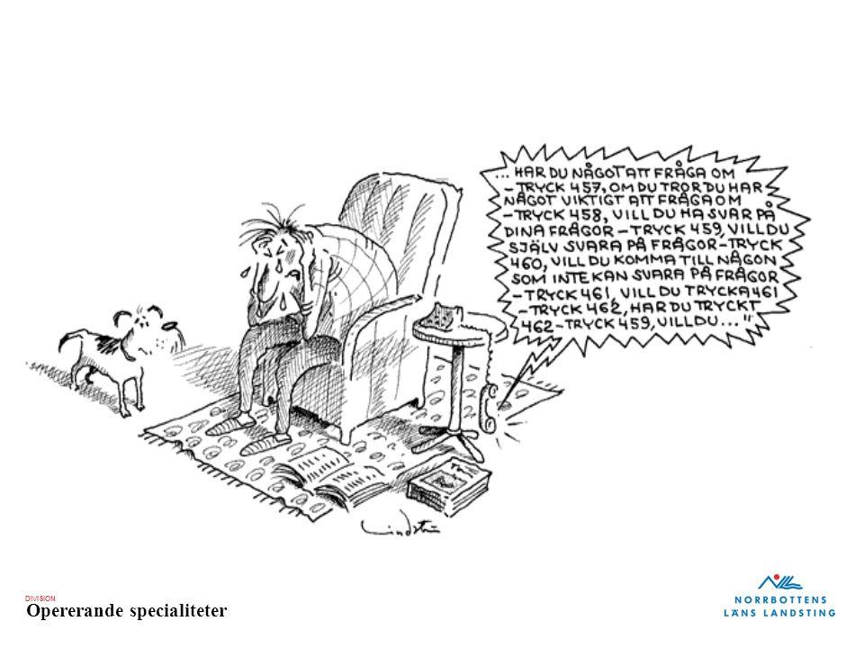 DIVISION Opererande specialiteter