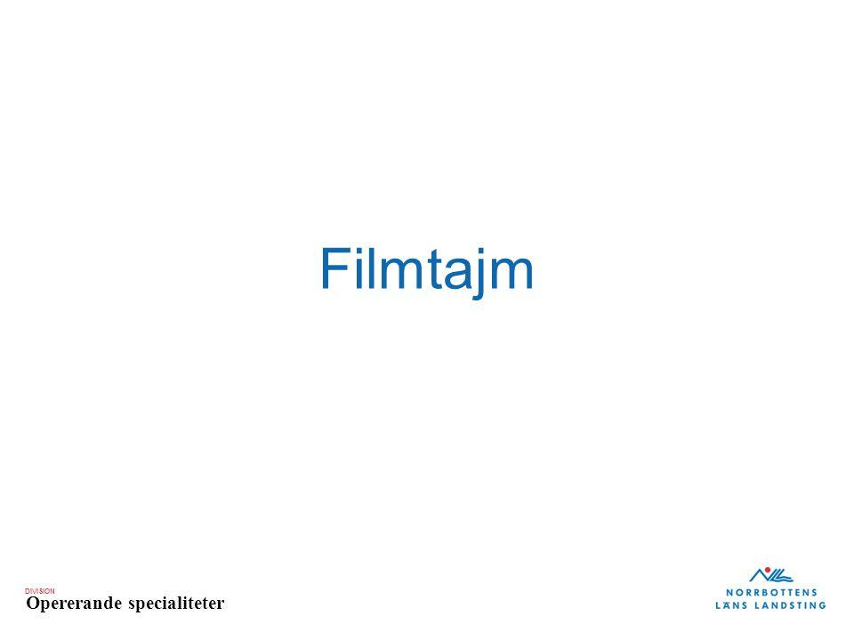 DIVISION Opererande specialiteter Filmtajm