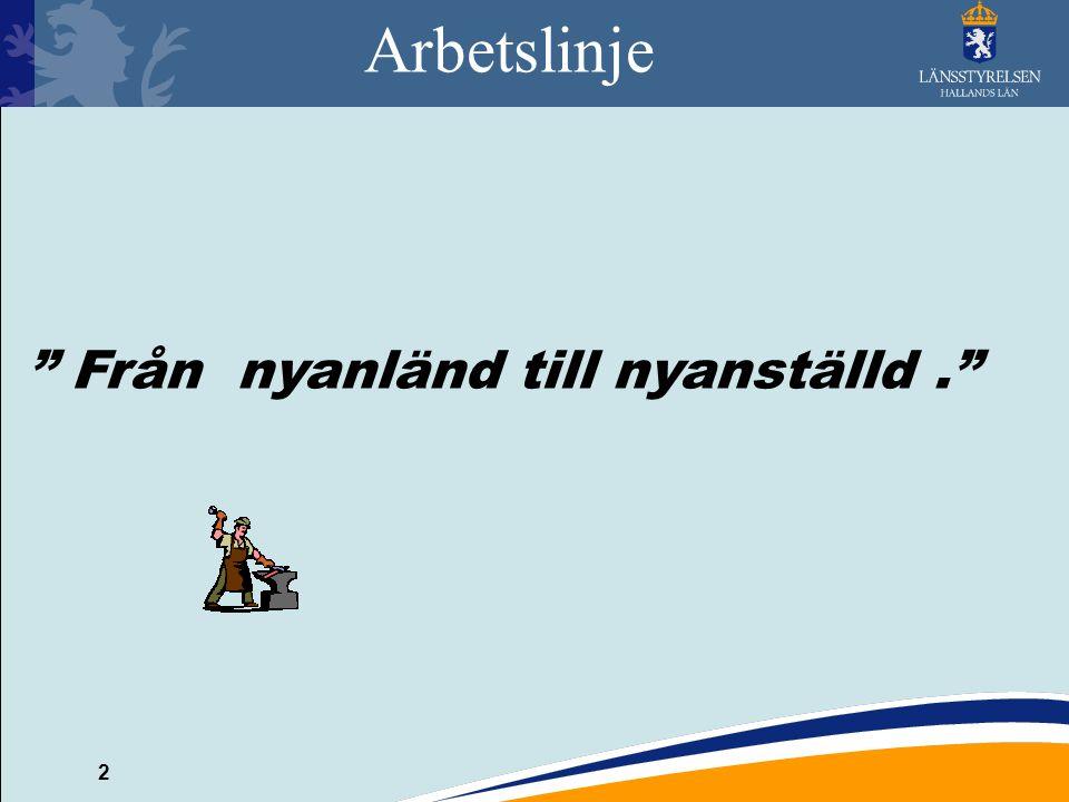 2 Arbetslinje Från nyanländ till nyanställd.