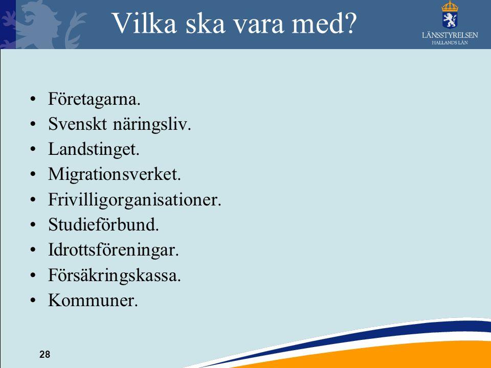 28 Vilka ska vara med.Företagarna. Svenskt näringsliv.