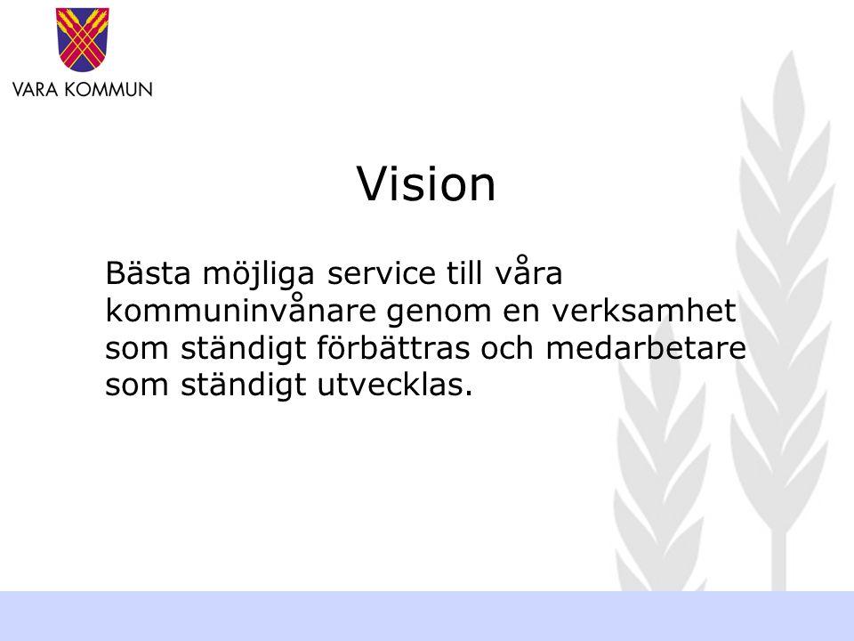 VARA REDO ATT MÖTA FRAMTIDE N Verksamhetsutveckling 2005 www.vara.se Om förändringskraft & effektivitet Verksamhetsutveckling 2005