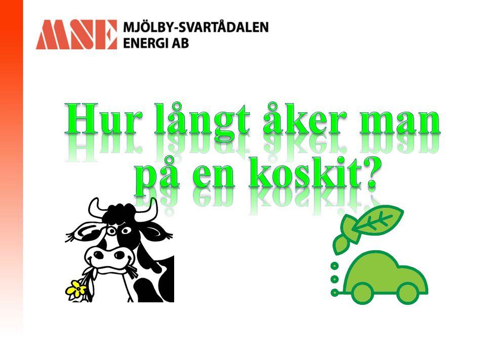 Biogas/Fordonsgas i Mjölby Miljöpåverkan Produktionstid: Miljontals år Bleckenstad & Hulterstad bedöms ersätta 640 000 liter bensin årligen vilket innebär en minskning av växthusgaser med 2650 ton CO 2 -ekv.