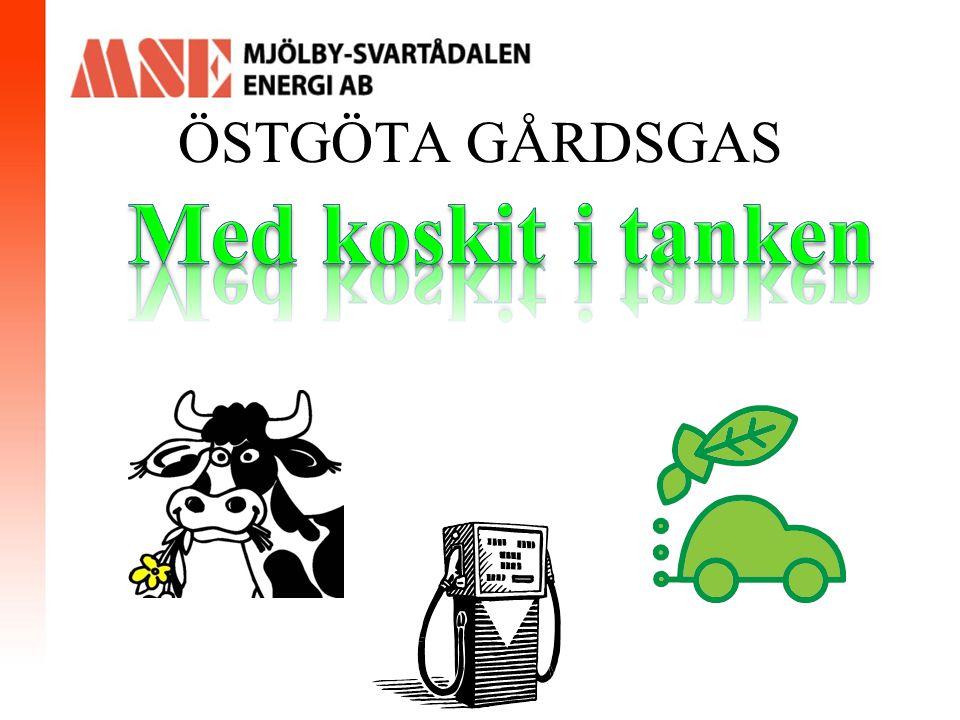 Biogas/Fordonsgas i Mjölby Nuläge Svensk Biogas har en mack i Mjölby sedan 2005.