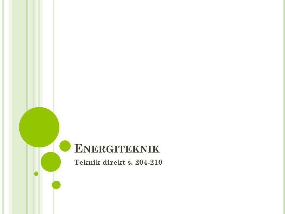 E NERGITEKNIK Teknik direkt s. 204-210
