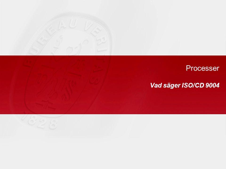 Processer Vad säger ISO/CD 9004