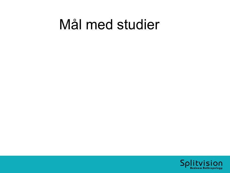 Mål med studier