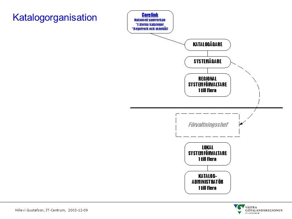 Hillevi Gustafson, IT-Centrum, 2003-12-09 Katalogorganisation