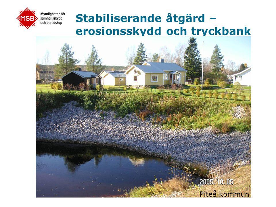 Stabiliserande åtgärd – erosionsskydd och tryckbank Piteå kommun