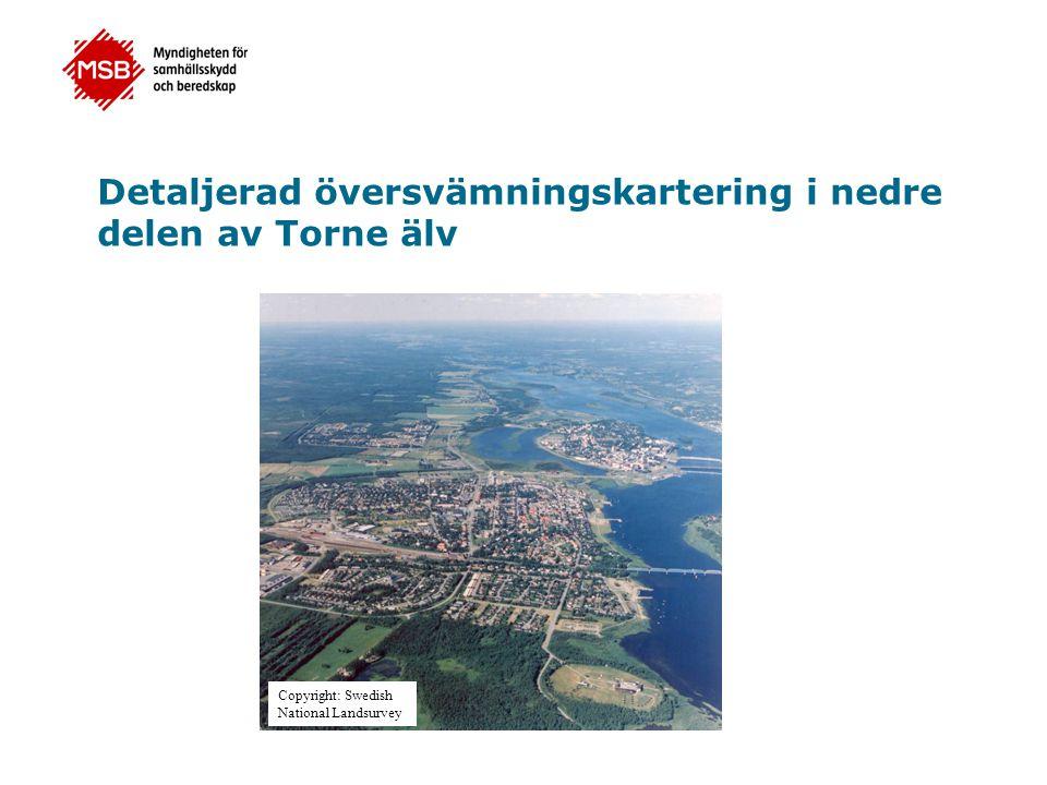 Detaljerad översvämningskartering i nedre delen av Torne älv Copyright: Swedish National Landsurvey