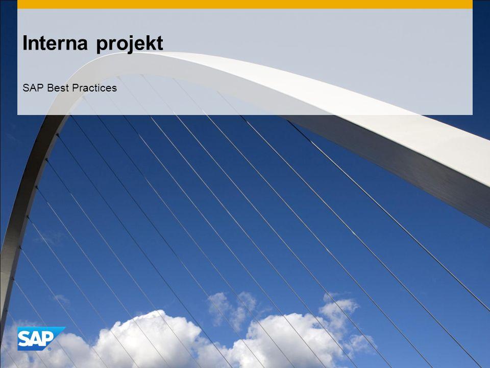 Interna projekt SAP Best Practices