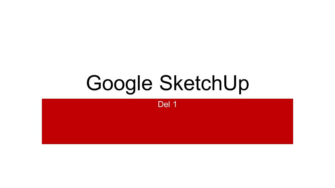 1.Välj Start using SketchUp. Du får nu ett meddelande om att du måste välja en template.