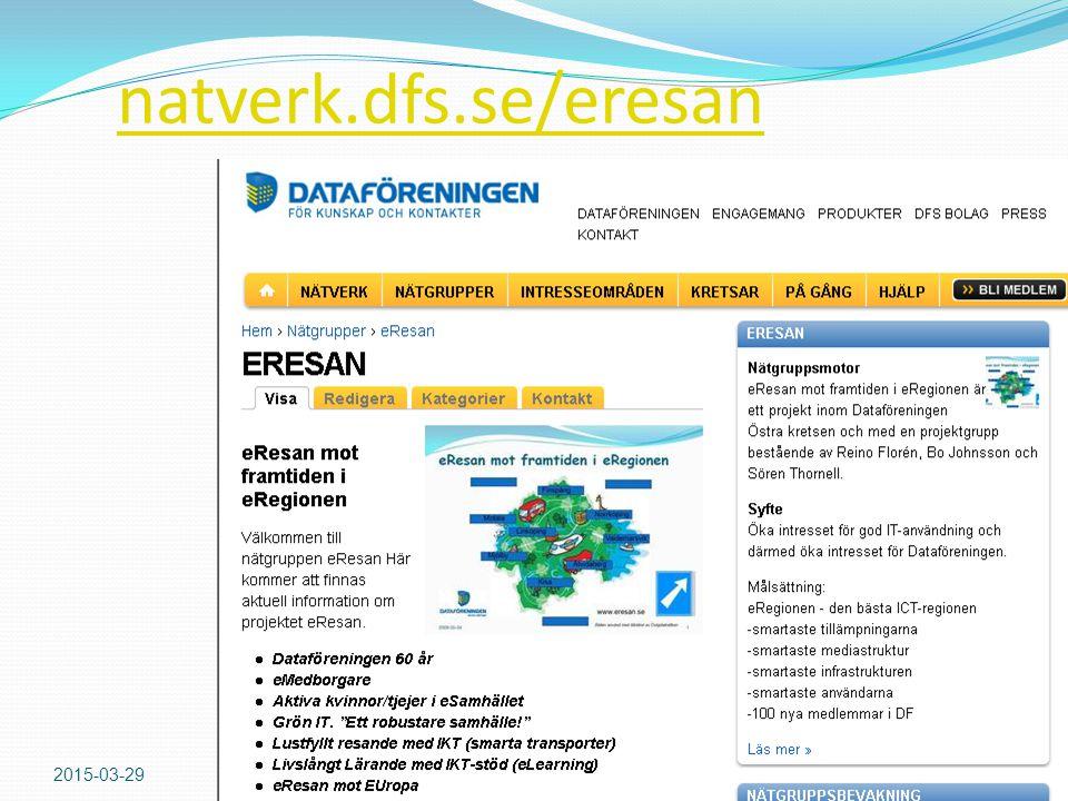 natverk.dfs.se/eresan 2015-03-29DFS/Östra kretsen11