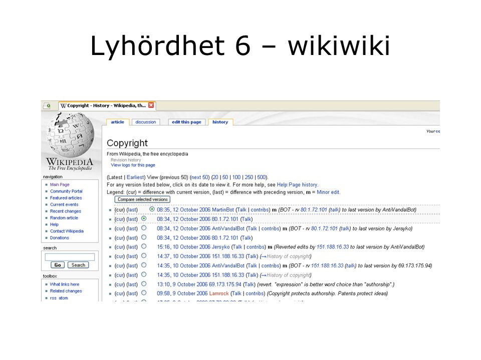Lyhördhet 6 – wikiwiki