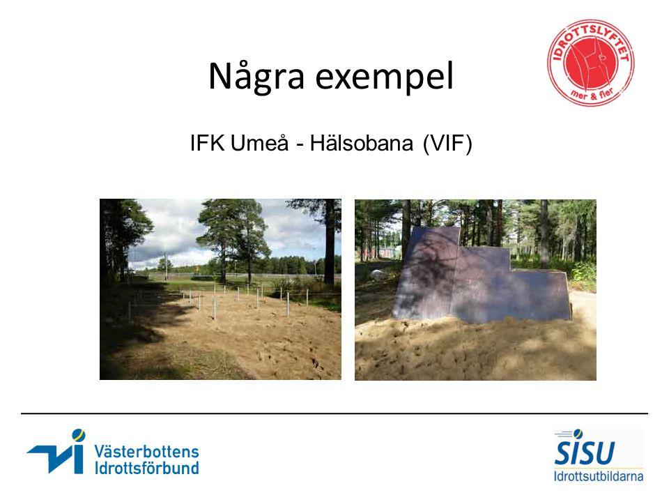 Några exempel IFK Umeå - Hälsobana (VIF)